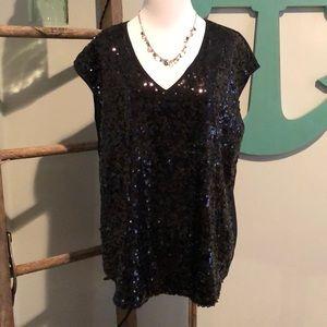 New York & co. Black sequin top